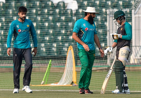 Misbah with national team during practice session | Getty Images