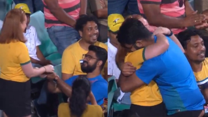 AUS v IND 2020-21: Twitterverse reacts to an Indian fan proposing to his girlfriend during 2nd ODI