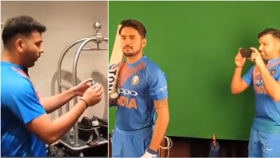 AUS v IND 2018/19: WATCH- India's 'Hitman' Rohit Sharma turns into 'Cameraman' for Manish Pandey