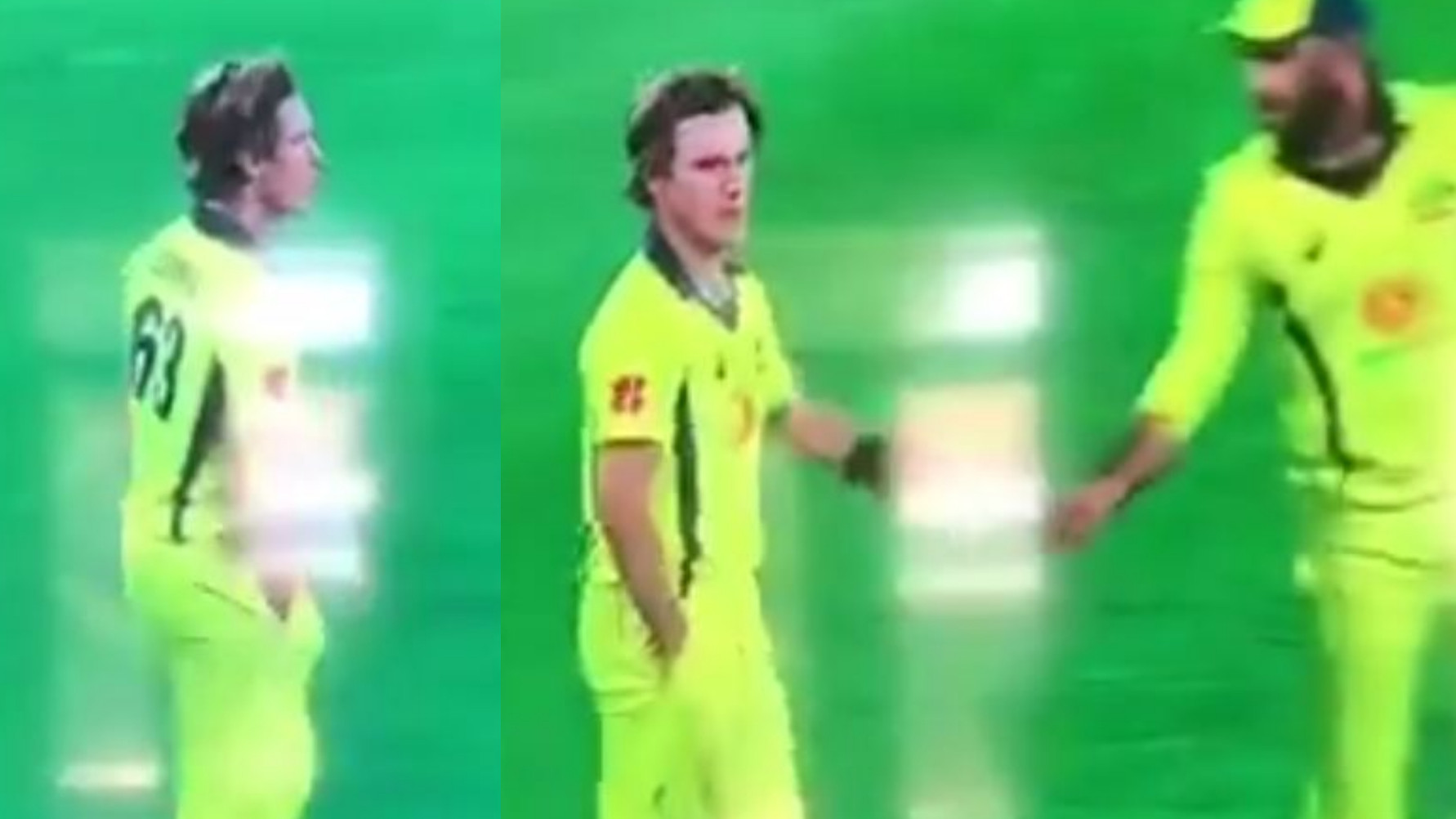 AUS v SA 2018: WATCH – Adam Zampa caught putting something on the ball from his pocket during the 2nd ODI