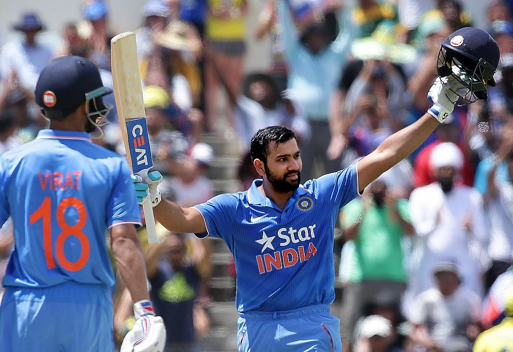 Rohit Sharma during his 171* in the Perth ODI on January 12, 2016 | Getty