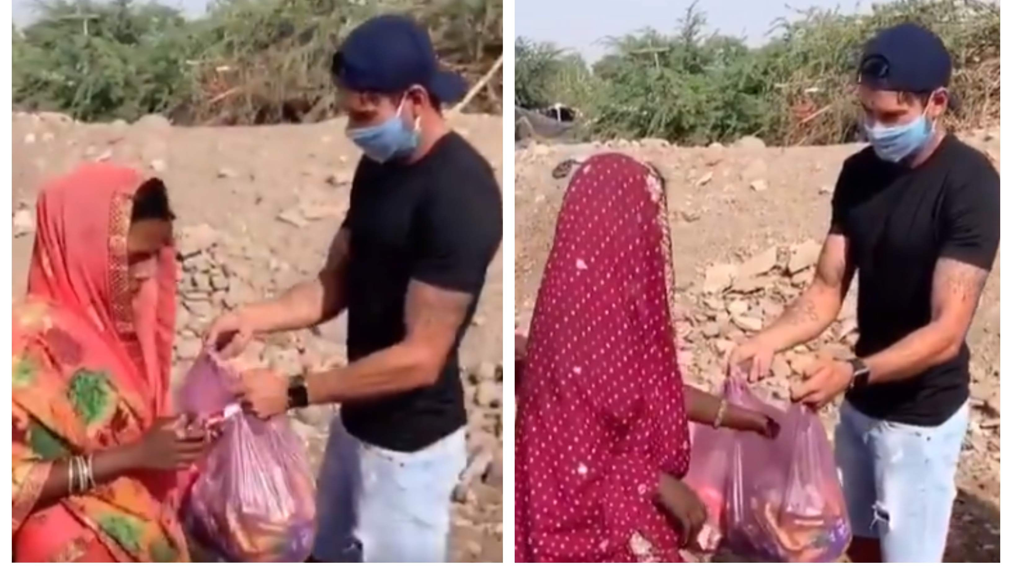 WATCH: Sheldon Jackson distributes food items among migrant workers amid COVID-19 lockdown