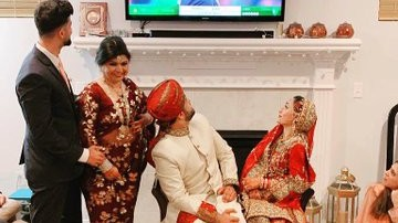 US cricket fan watches Pakistan-Australia T20I during his wedding, ICC tweets the picture