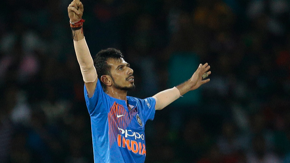 ENG v IND 2018: WATCH: Yuzvendra Chahal raises his bat after smashing first ODI four