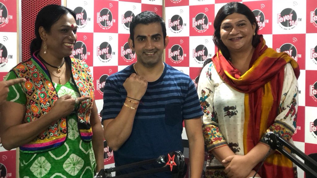 Gautam Gambhir breaks the stereotype by getting rakhi tied by transgenders