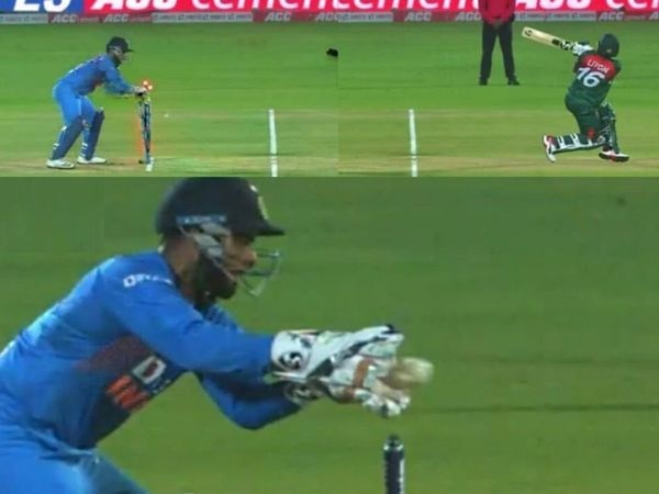 Rishabh Pant's school boy mistake cost India a wicket and a free hit | Screen grab