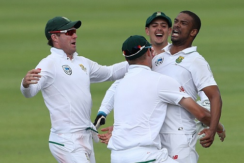 South African player their Cape Town win over India | Getty Images