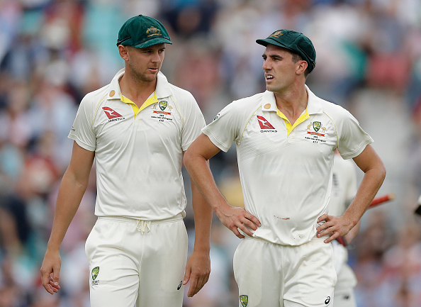Cummins and Hazlewood react to ban on the use of saliva | Getty Images
