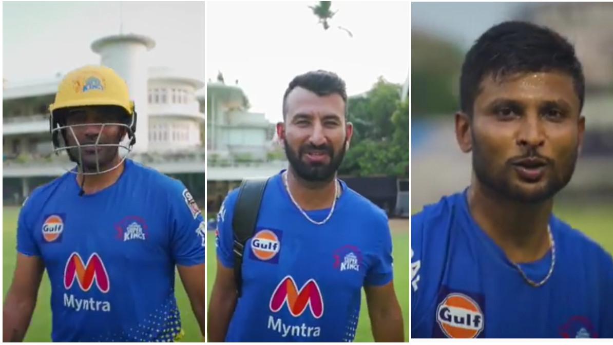 IPL 2021: WATCH - Robin Uthappa, Cheteshwar Pujara and K Gowtham don CSK yellow in practice