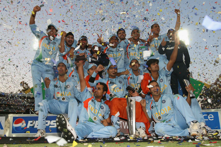India celebrate after winning the maiden World T20 in 2007 | Getty Images