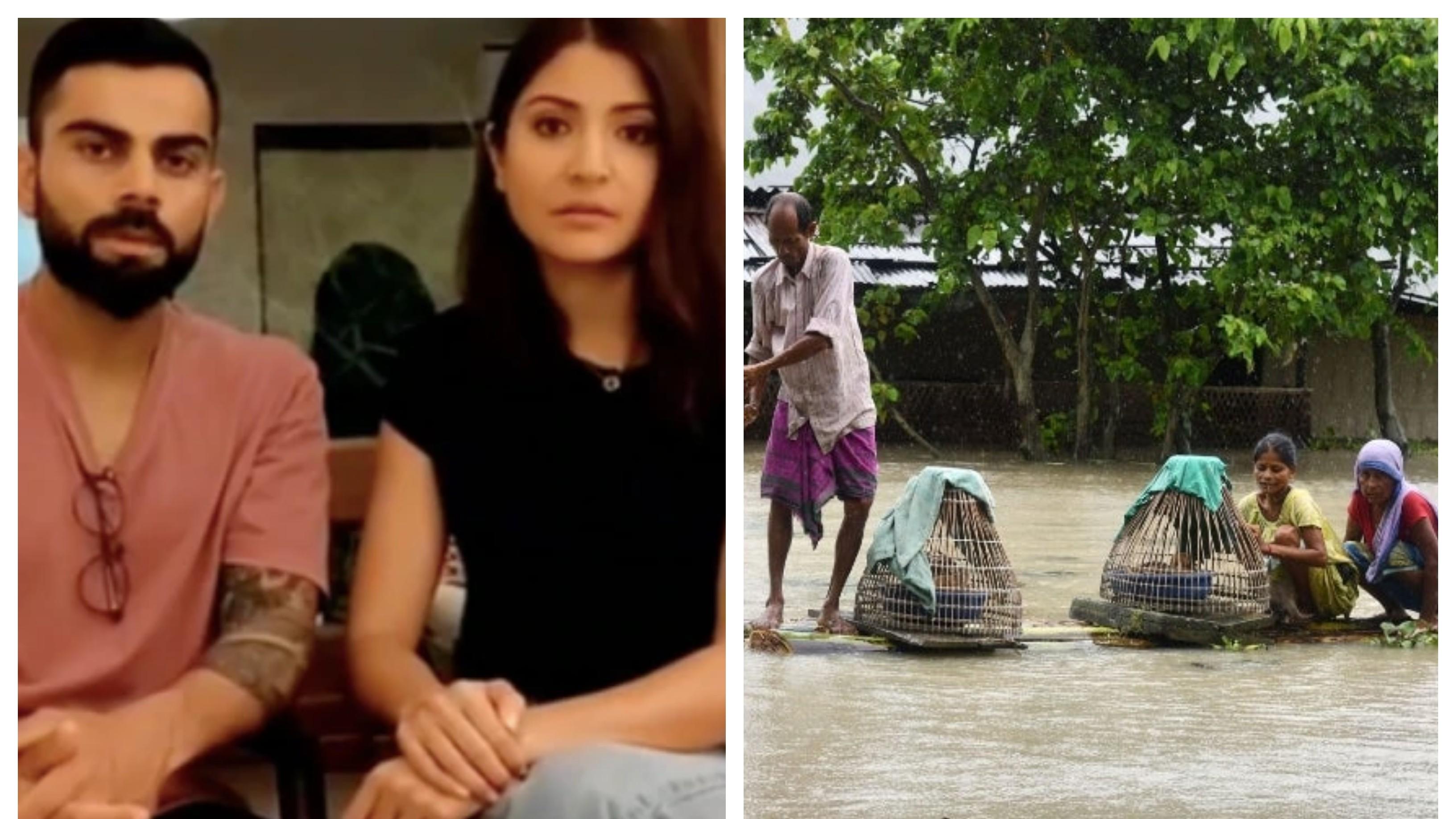 Virat Kohli, Anushka Sharma extend support to Assam, Bihar flood victims