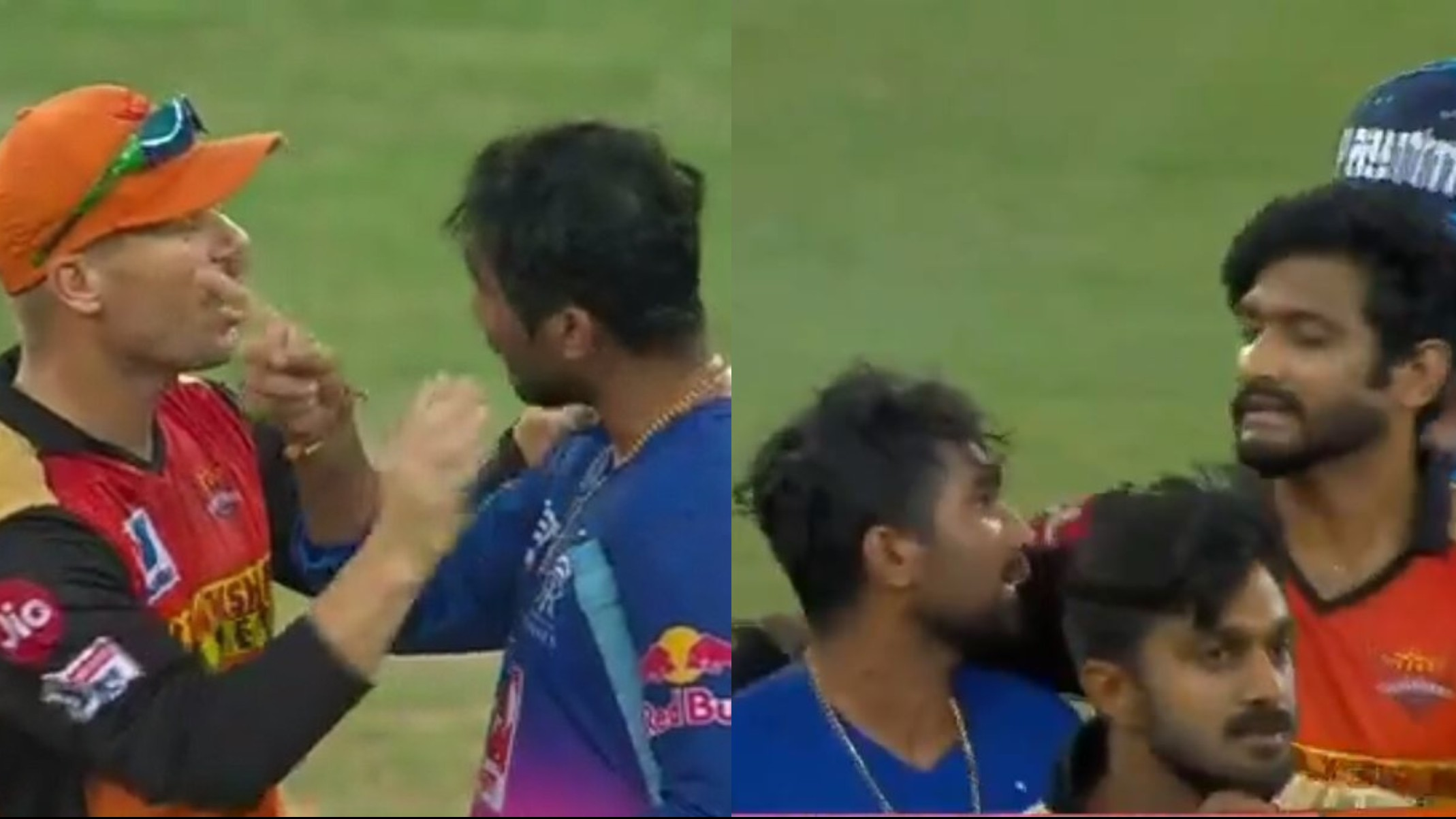 IPL 2020: WATCH- Angry Tewatia clashes with Khaleel and Warner after RR beats SRH