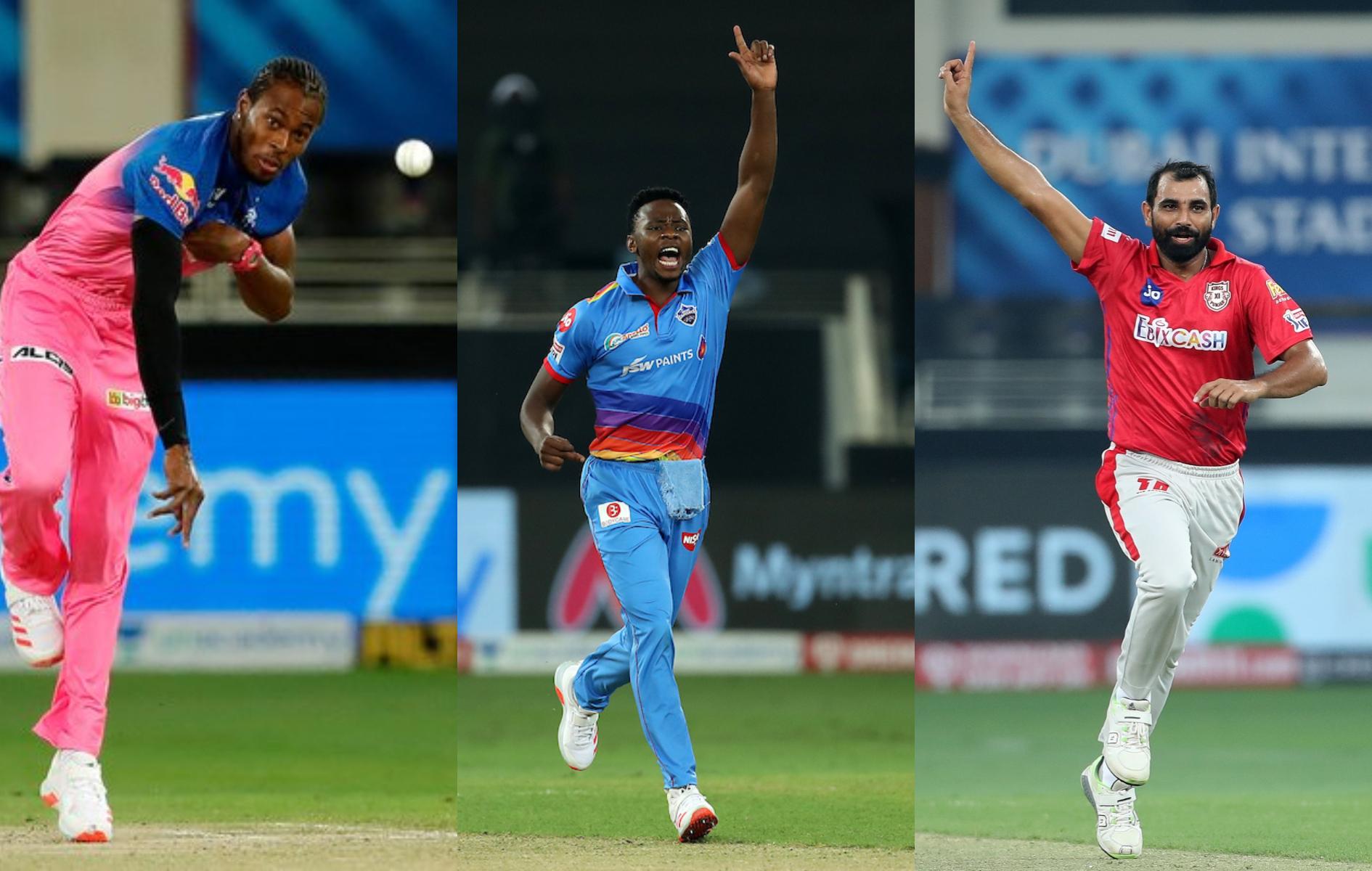 Jofra Archer, Kagiso Rabada and Mohammad Shami | BCCI/IPL