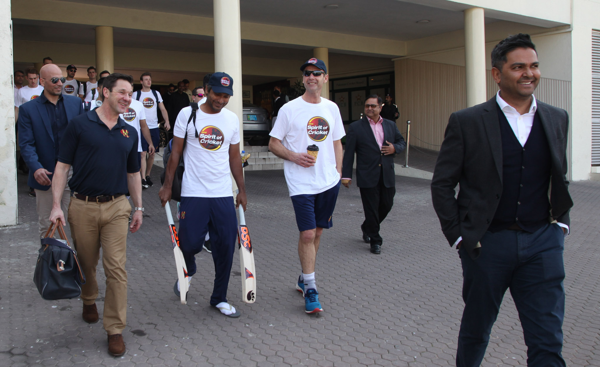 MCC players on the way for training in Lahore | PCB Twitter