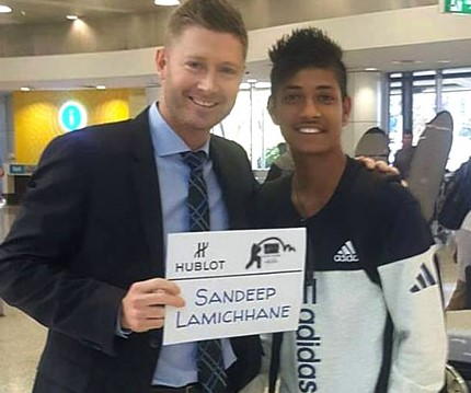 Nepal cricketer Sandeep Lamichhane thanks Michael Clarke post IPL deal.