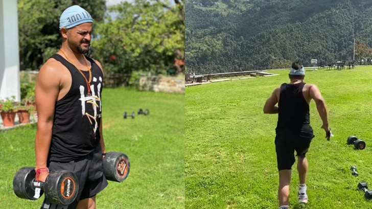 WATCH - Suresh Raina shares video of himself training in scenic nature