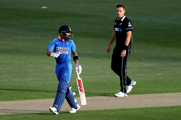 Southee got Kohli out to help New Zealand win the Auckland ODI | Getty