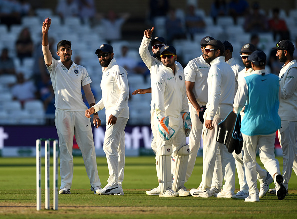 Jasprit Bumrah after picking up his second Test fifer | GETTY