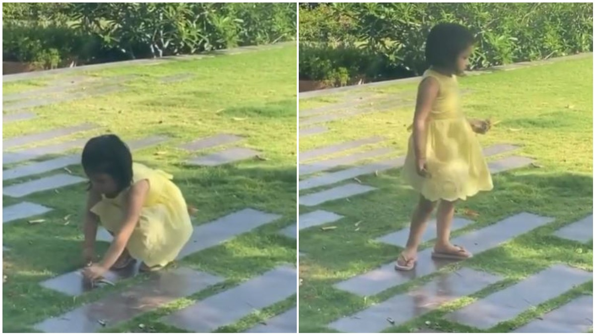 WATCH - Adorable Ziva Dhoni helping clean the garden amidst Coronavirus lockdown