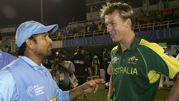 Sachin Tendulkar with Brett Lee | GETTY