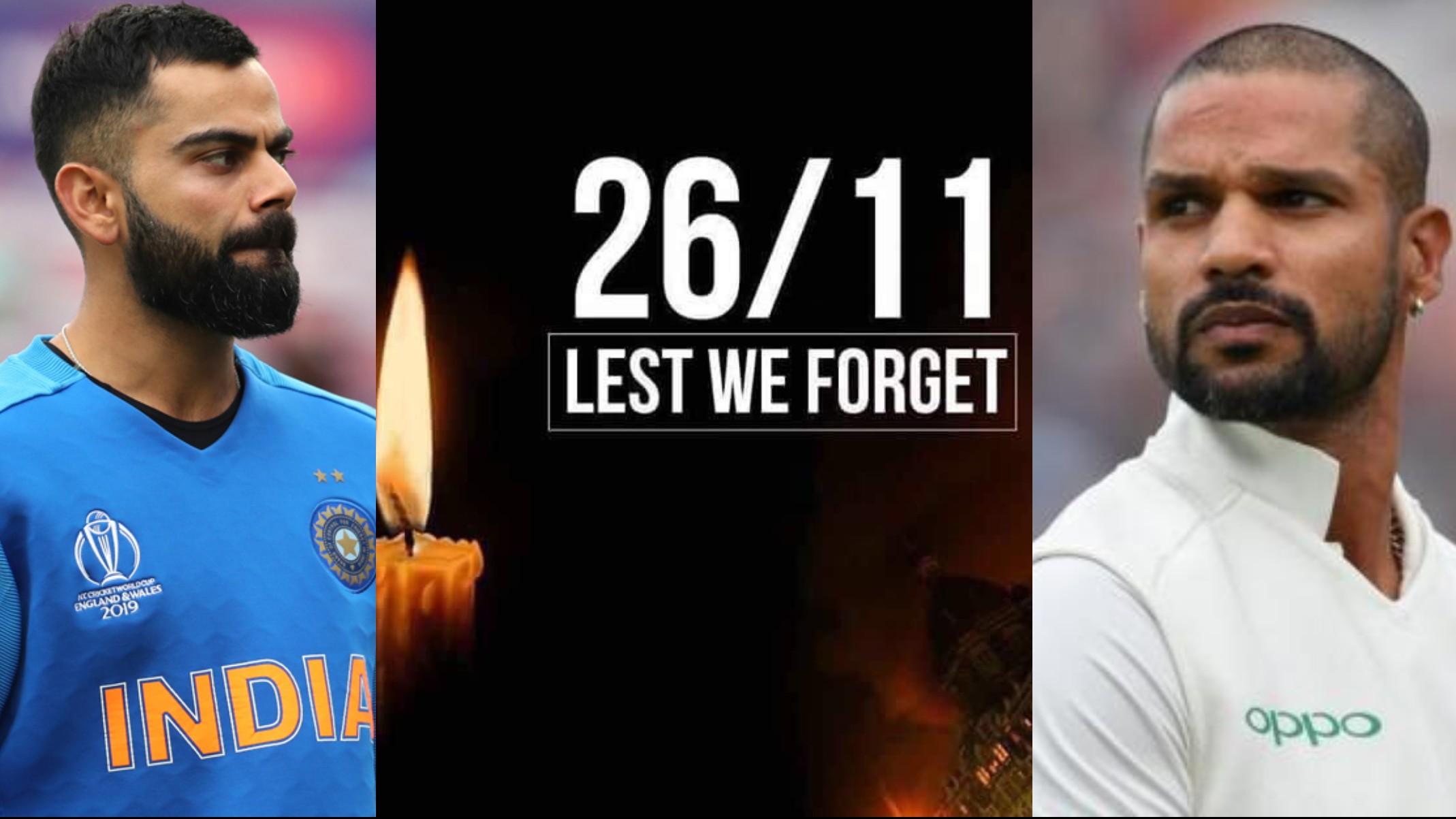 Team India members pay tribute to victims of 2008 Mumbai Terrorist attacks