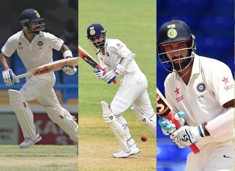 Virat Kohli, Ajinkya Rahane and Cheteshwar Pujara will lend solidity to the middle order