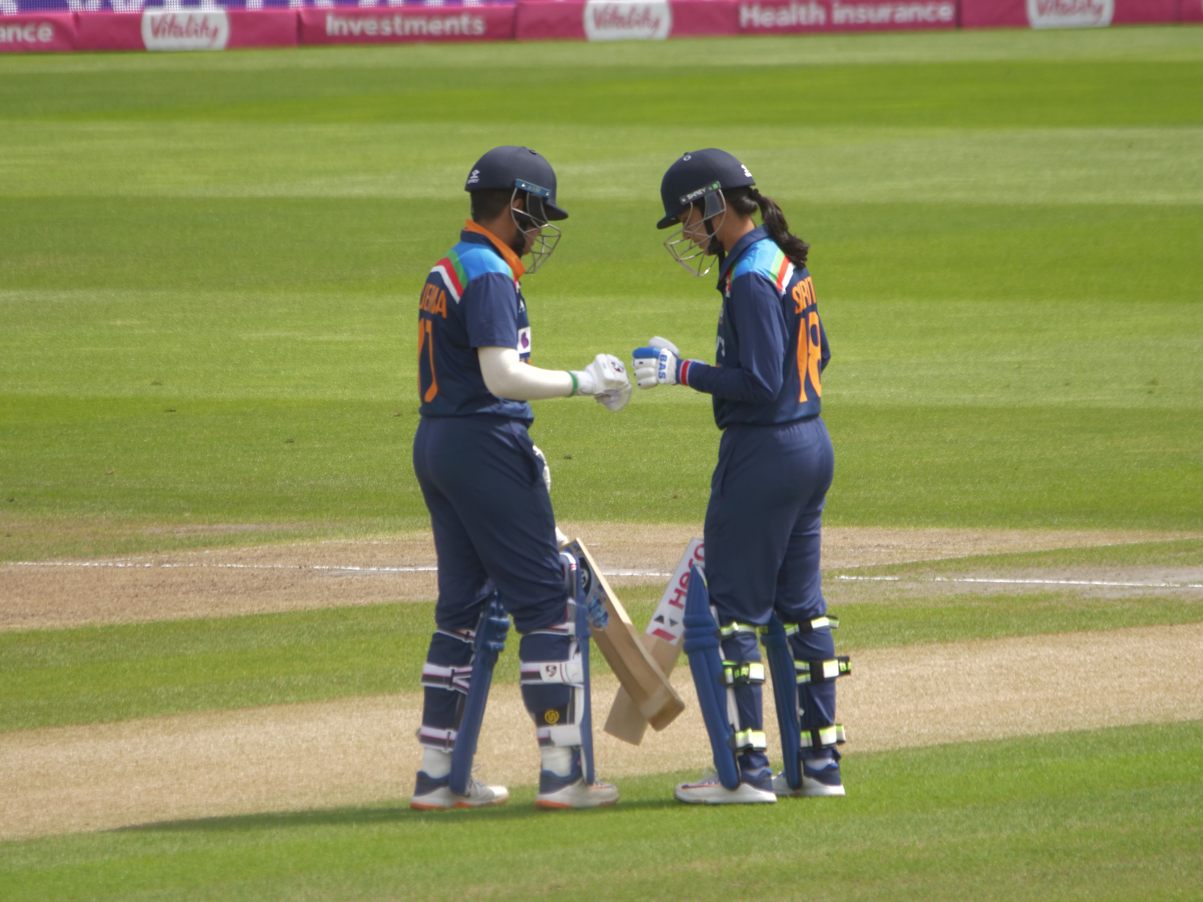 Smriti Mandhana and Shafali Verma during the ongoing series against England   BCCI Women/Twitter
