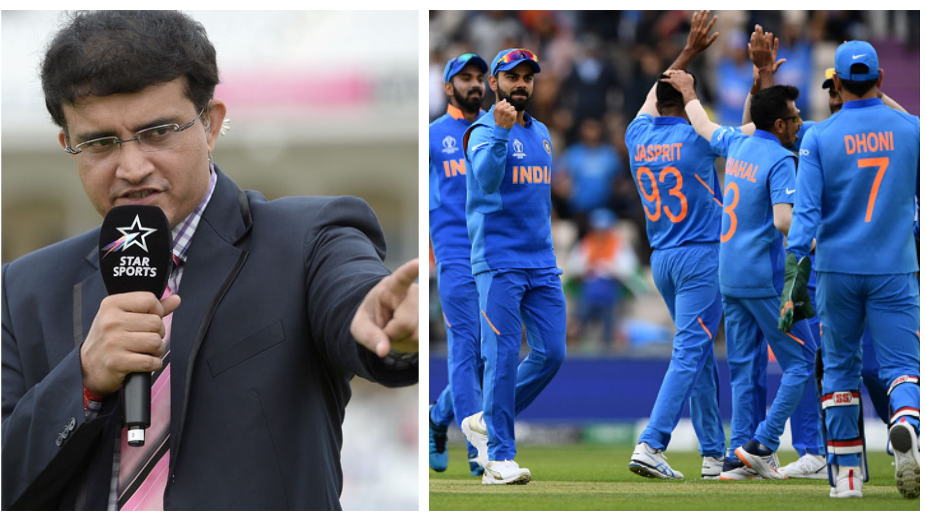 CWC 2019: Sourav Ganguly hails India as the best side in this World Cup so far