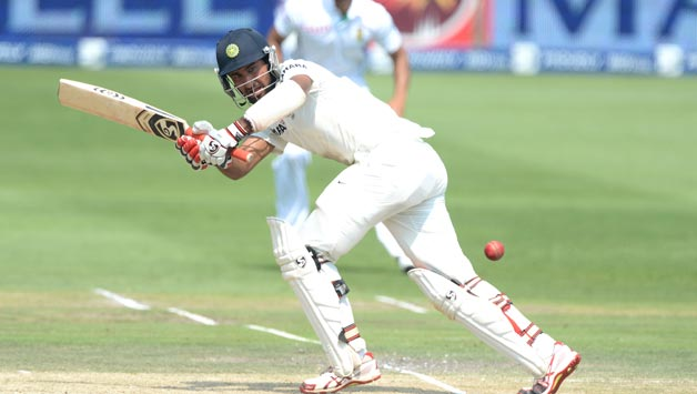 Cheteshwar Pujara against England on the 2014 tour | GETTY