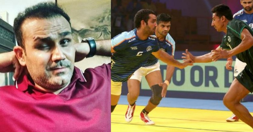 Virender Sehwag and Indian Kabaddi Team | Twitter