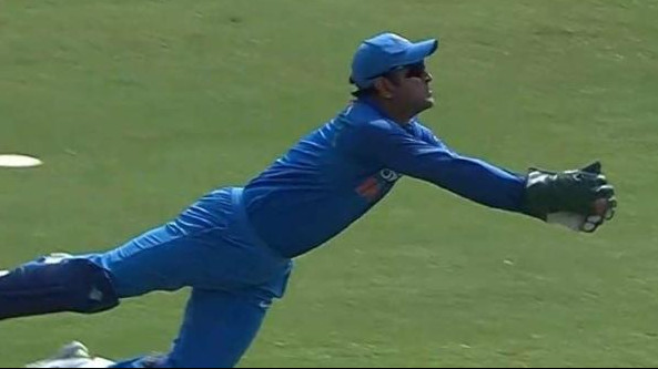 IND v WI 2018: Twitter couldn't stop praising MS Dhoni's athletic diving catch off Bumrah