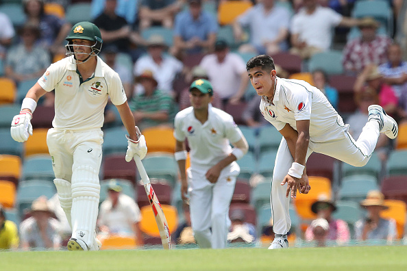 Naseem Shah was part of the senior national team during the Test series in Australia last month   Getty