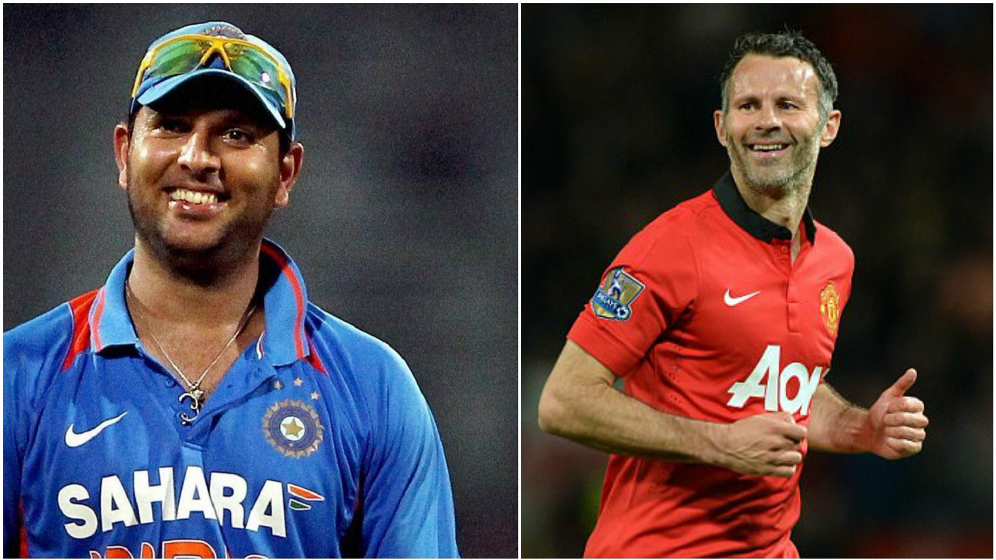 Watch: Yuvraj Singh cheering for Ryan Giggs' incredible football skills