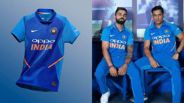 team india s new jersey for the world cup unveiled before the australia series