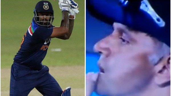 SL v IND 2021: WATCH- Rahul Dravid's disappointed look after Suryakumar Yadav's dismissal goes viral