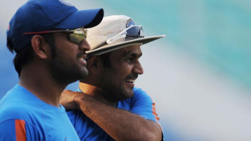 Virender Sehwag comes up with a witty wish on MS Dhoni's birthday