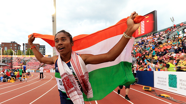 Cricketers applaud India's first track and field gold medal winner Hima Das on Twitter
