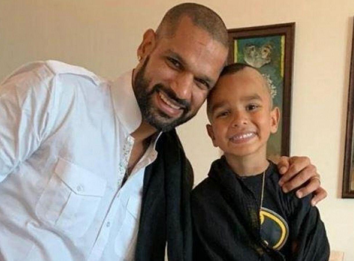 Shikhar Dhawan with son Zoraver | Instagram
