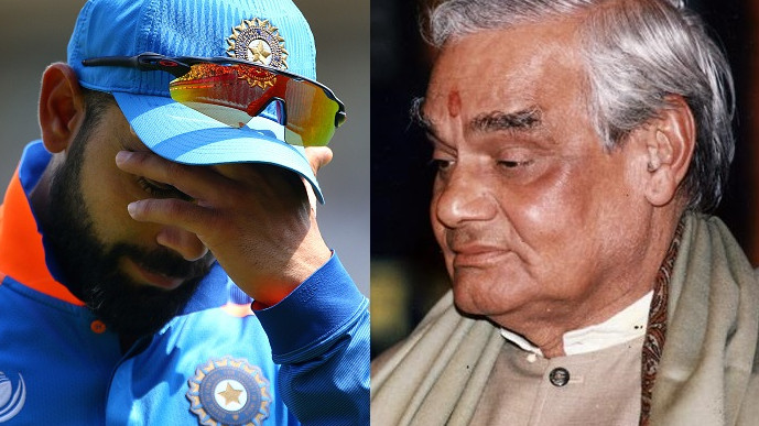 Virat Kohli and other cricketers pay tribute to late Indian PM Atal Bihari Vajpayee on Twitter