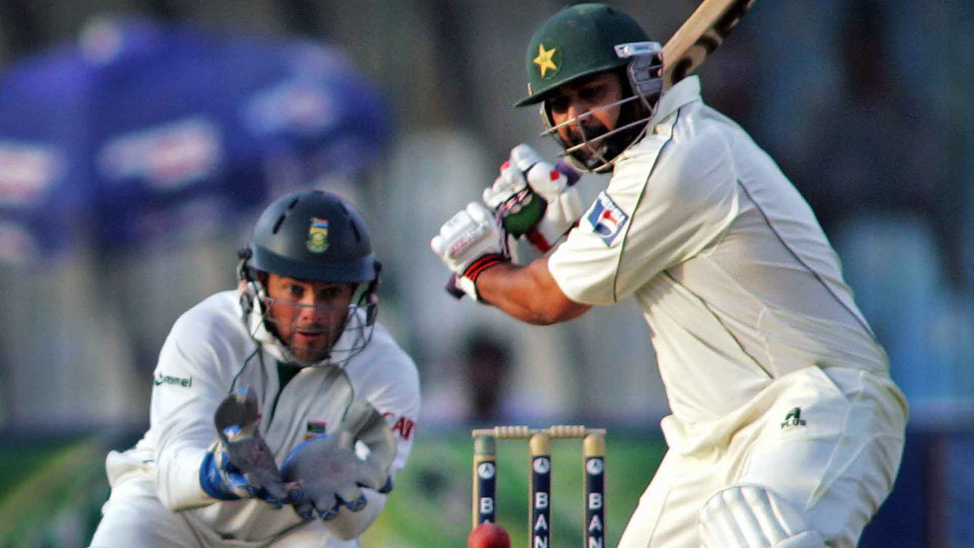 Inzamam-ul-Haq, and Mark Boucher | AFP