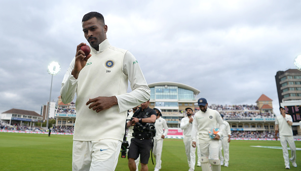 Hardik Pandya walks back with his best Test figures |  GETTY