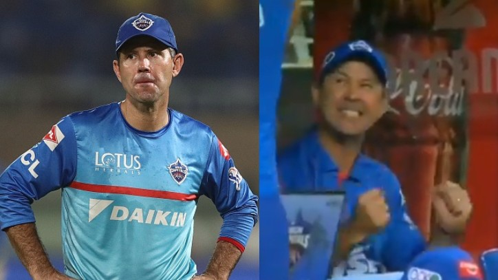 IPL 2020: WATCH - Ricky Ponting enthusiastically celebrates DC's clinical win over RR