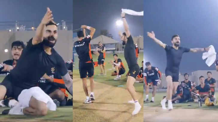 IPL 2020: WATCH - Virat Kohli cheers the RCB bowlers exuberantly during the 'yorker challenge'