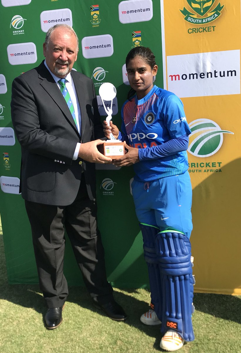 India women defeats South Africa Women in the first T20I thanks to Mithali, Veda and Rodriques