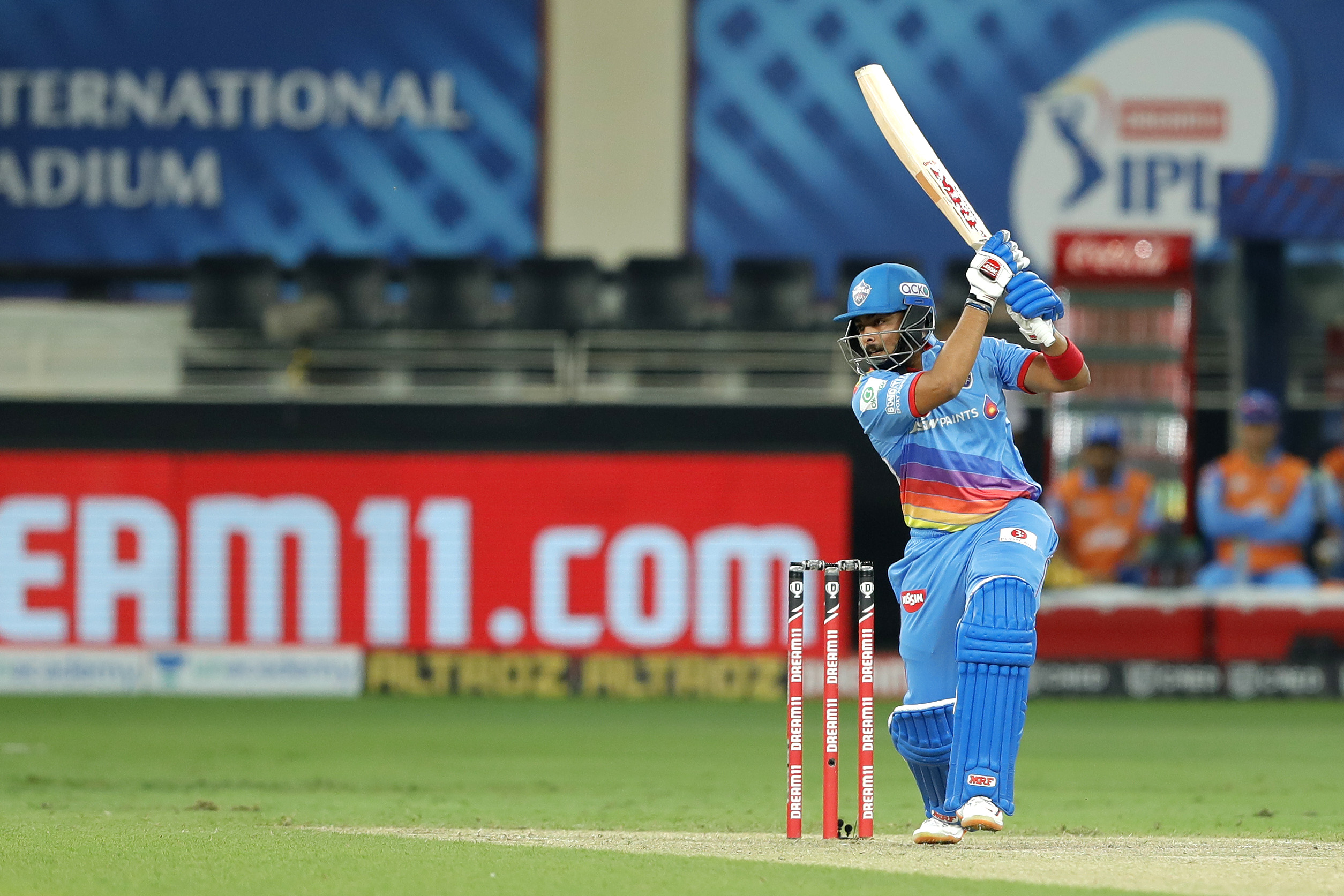 Prithvi Shaw missed his third fifty in IPL 13 against RCB | Twitter