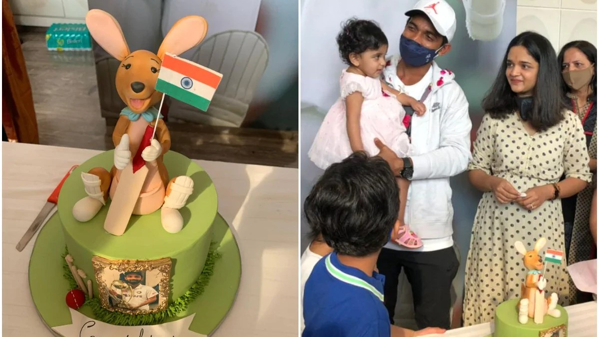 WATCH - Ajinkya Rahane refuses to cut Kangaroo-shaped cake during celebrations in Mumbai
