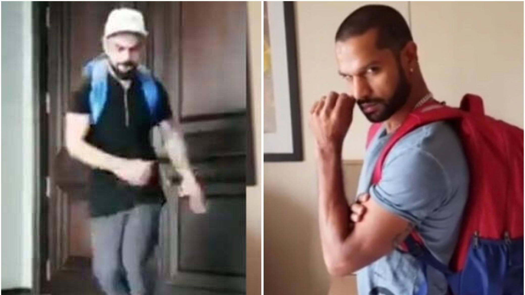 Watch: Shikhar Dhawan accepts Virat Kohli's dance challenge