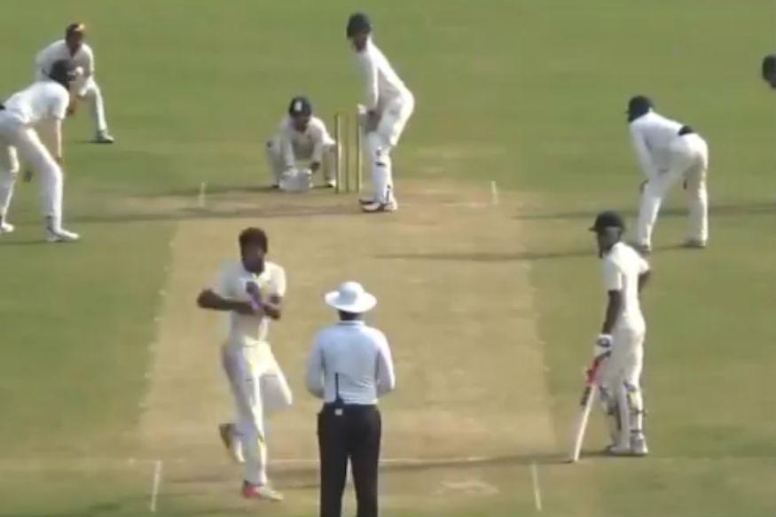 The video is of Uttar Pradesh spinner Shiva Singh from the Under-23 CK Nayudu match between Uttar Pradesh and Bengal | Twitter