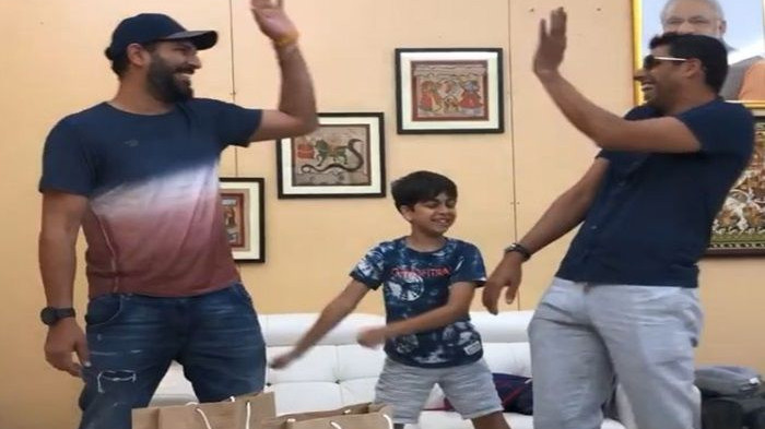WATCH: Ashish Nehra's 'Backpack dance challenge' with Yuvraj will make your day