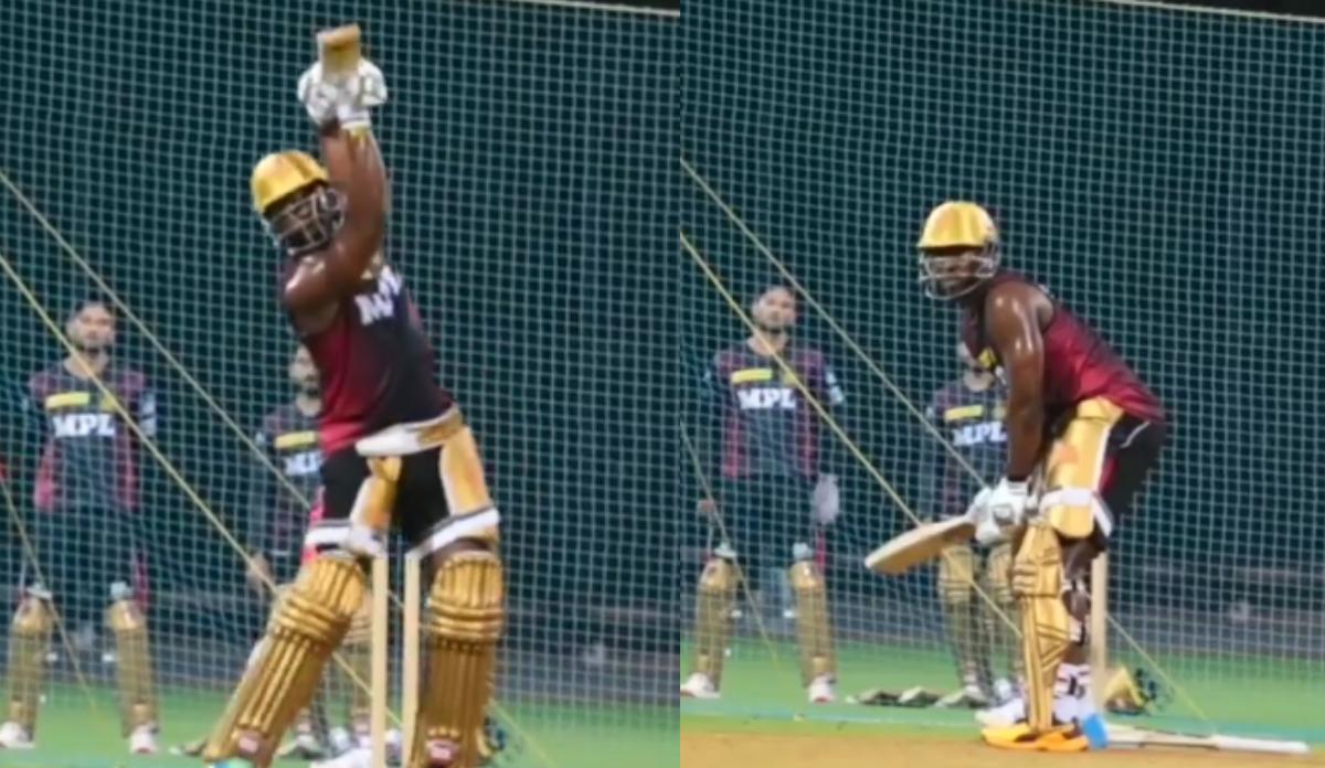 Andre Russell began training for IPL 2021 in Chennai | KKR Instagram